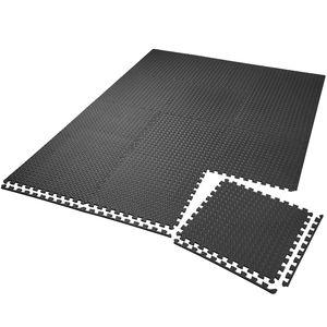 tectake Bodenschutzmatte 12-tlg. - schwarz