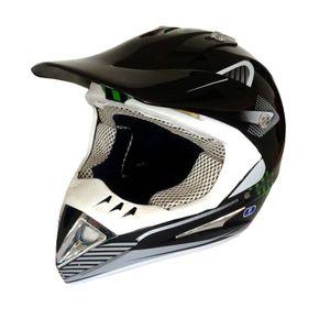 Crosshelm MotoX schwarz-grün Größen: M Endurohelm Motocrosshelm Helm