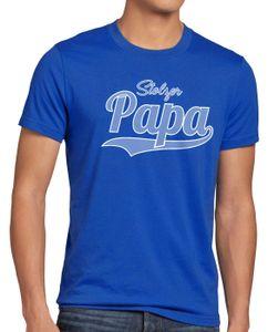 style3 Stolzer Papa Herren T-Shirt Vater Dad Spruchshirt Funshirt, Größe:XXL, Farbe:Blau