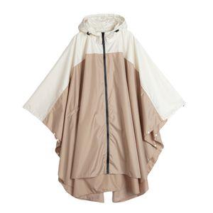 Leichter wasserdichter Outdoor-Regenmantel für Damen mit Kapuze in Khaki-Beige Mantel Regenmantel Khaki Beige wie beschrieben