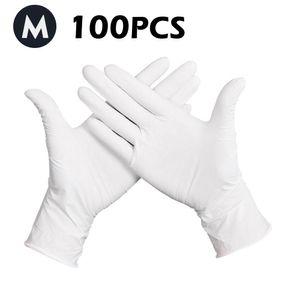 Handschuhe Einweg Einmalhandschuhe LATEX, Größe M Weiß