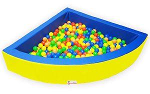 """BällebadPOOL/BällebadBECKEN + 700 Bällebad Bällen mit 5,5cm Ø, Viertelkreis"""" Schaumstoff Bällebad 1/4 POOL"""