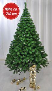Weihnachtsbaum 210cm hoch, mit Metall - ständer und Ästen aus Kunststoff, grün
