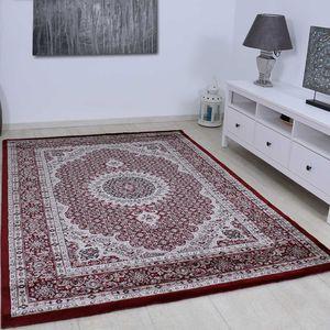 Klassischer Tibet Teppich, sehr dicht gewebt, mit Orient Muster in stilvollen Rot - T0146, Maße:160 cm x 230 cm
