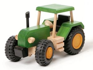 928 4010 uniwood Holzspielzeug Holzauto Traktor Trecker aus Holz