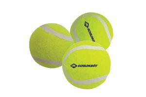 Schildkröt Freitzeit-Tennisbälle, 3 Stück, drucklos im Meshbag, gelber Filz, für das erste Tennis-Spiel auf der Strasse, im Hof