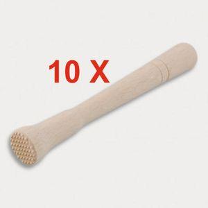 10 Stück = Cocktail-Stößel aus Holz 22 cm