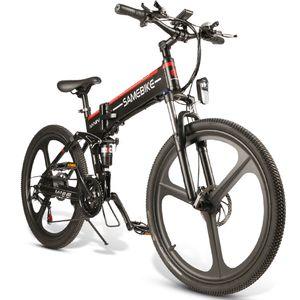 SAMEBIKE 26 Zoll Faltrad Klapp E-bike Elektrofahrrad Mountainbike 350W 48V/10.4Ah, Max 25km/h, Max Bis 150kg