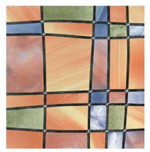 Fensterfolie Barcelona Adhesive - Klebefilm Bleiglas Look 0,67 m x 2 m bunt