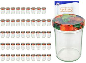 50er Set Sturzglas 230 ml HOCH To 66 Obst Nachbildung Deckel incl. Diamant Gelierzauber Rezeptheft
