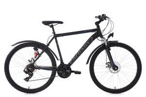 26 Hardtail ATB Mountainbike 21 Gänge Calgary schwarz (56 cm)
