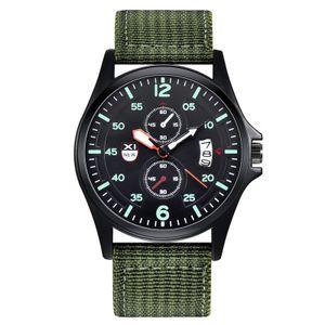 Outdoor Herren Datum Edelstahl Militärsport Analog Quarz Armbanduhr XYQ200922122GN