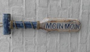 Paddel Moin Moin. Maritime Dekoration. Holz massiv. 50 cm