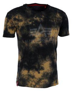 ALPHA INDUSTRIES BASIC T BATIK Herren T-Shirt, Größe:M, Alpha Industries Farben:Brown