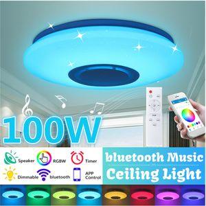 120W 114 LED LED Deckenleuchten mit Bluetooth-Lautsprecher Bluetooth-Deckenleuchte WiFi Smartphone APP und Fernbedienung