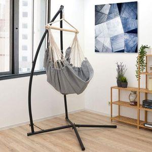 WYCTIN Hängesessel Gestell Hängesesselgestell 214cm Hängestuhl Ständer bis 120kg (Ohne Hängematte)