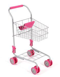 Supermarktwagen, Einkaufswagen für Kinder, Kaufladenzubehör, pink