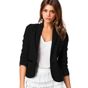 Frauen Business Mantel Blazer Anzug Langarm Tops Slim Jacke Outwear Größe S-6XL Größe:6XL,Farbe:Schwarz