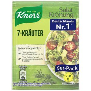 Knorr Salatkrönung 7 Kräuter klarers Salatdressing 5x 8g 5er