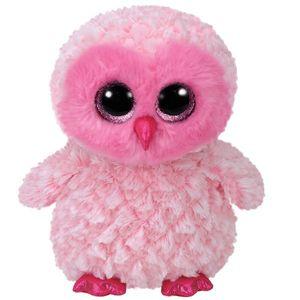 TY Beanie Boos Glubschi Twiggy Eule weiss rosa 24cm Stofftier Plüschtier klein