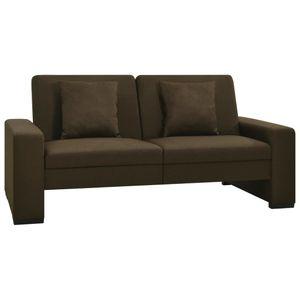 CHIC® Schlafsofa im skandinavischen Stil| Polstersofa Bettsofa Lounge Sofa für Wohnzimmer Braun Stoff Größe:176 x 92 x 41 cm※6649