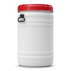 75 Liter Weithalsfass Tonne Drehdeckelfass Schraubdeckelfass weiß (75 CT SW)
