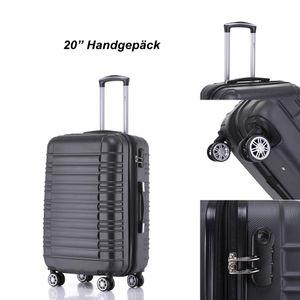 Reisekoffer Hartschalenkoffer ABS Hartschalenkoffer Trolley M Schwarz Reisekoffer Boardcase 4 Trolley