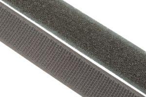 dalipo - Klettband  zum annähen, aufnähen - 20 mm Breite - grau