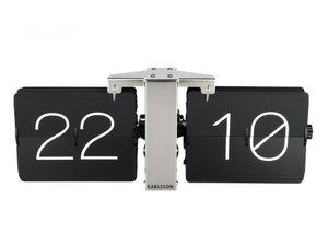 Presenttime Wanduhr Flip Clock schwarz Standuhr Tischuhr Nostalgie Wohnzimmeruhr