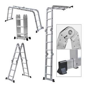 WYCTIN Mehrzweckleiter Teleskopleiter Leiter Multifunktionsleiter Aluleiter Klappleiter (3.6 Meter