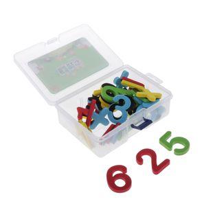 Magnetische Zahlen Alphabet Kühlschrankmagnet aus Kunststoff mit Aufbewahrungsbox, Kinder Pädagogisches Spielzeug Farbe zahlen