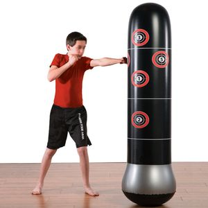 Fitness Boxsack Aufblasbarer Boxsack 150cm Freistehender Boxsack Boxsack De-Stress-Boxsack mit Luftpumpe fuer Kinder Erwachsene Fitness Punching Bag Inflatable Punching Tower Bag 150cm/4.9ft Freestanding Kicking Bag Boxing Bag De-Stress Boxing Target Bag with Air Pump for Kids Adults