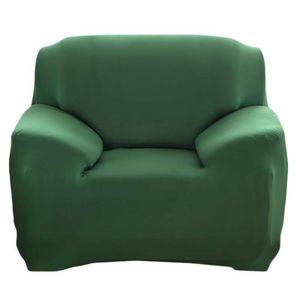 1 Sitzer Sofahussen Sofabezug Stretch elastische Sofahusse Sofa Abdeckung Sofabezüge Universal Stretchhussen Sesselbezug 90-140CM ,Dunkelgrün