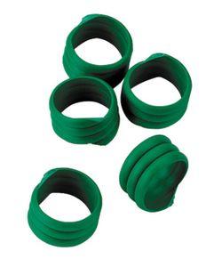 Spiralringe (20 Stück), grün, 16 mm