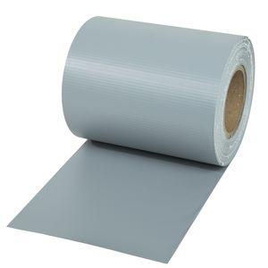 tectake PVC Sichtschutzfolie - grau, 35 m