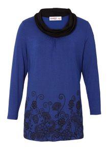 Joe Browns Damen Marken-Longshirt, royalblau-schwarz, Größe:44/46