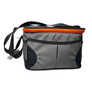SVITA Kühltasche klein 5l Isoliertasche Lunch-Tasche Thermobox Lunch-Bag Tragegurt Grau