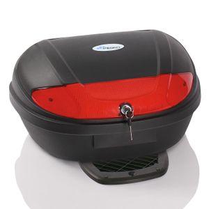 TRESKO® XXL Motorradkoffer Top Case Rollerkoffer 48 Liter Top Case Roller Universal-Case