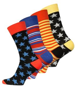 "Vincent Creation® Trend-Socken 4 Paar ""Stars and Stripes"" 41-45"