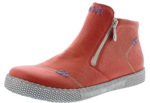 Rieker Damen Stiefeletten Boots Kurzstiefel L1260-33, Größe:40 EU, Farbe:Rot