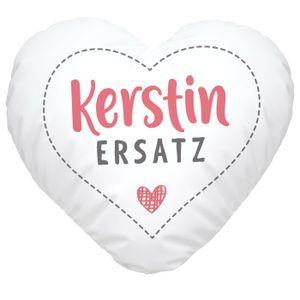 Herzkissen personalisiert Geschenk Liebe eigener Name Schatzersatz Herz SpecialMe® Für Ihn weiß Herz-Kissen