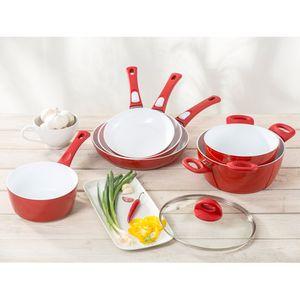 Genius Cerafit Style Kochtopf Set 5-tlg 20 24 cm + Stielkasserolle 18 cm mit Keramik-Beschichtung; A24429