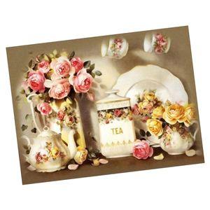 Diamond Painting DIY Full 5D Diamant Malerei Strass Bilder Kunst Handwerk für Dekoration, Blume Und Teekanne