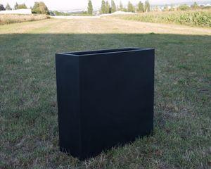 Pflanztrog Pflanzkübel Blumenkübel Fiberglas als Raumteiler 84x30x80cm elegant schwarz-matt.