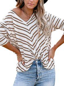 Damen Pullover Pulli Strickpullover Langarm Sweatshirt Casual Warm Sweater Tops,Farbe: Khaki,Größe:XL