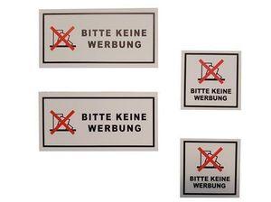 BITTE KEINE WERBUNG Aufkleber Etiketten