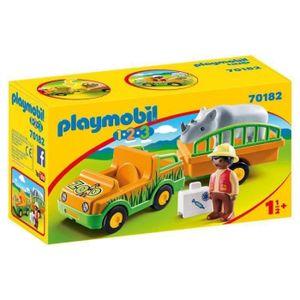 PLAYMOBIL Zoofahrzeug mit Nashorn, 70182
