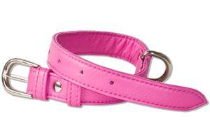 Rimbaldi® Voll-Leder Hundehalsband für kleine Hunde mit 25-35 cm Halsumfang