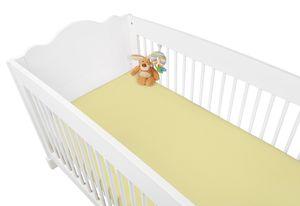 Jersey-Spannbetttuch für Kinderbetten, gelb