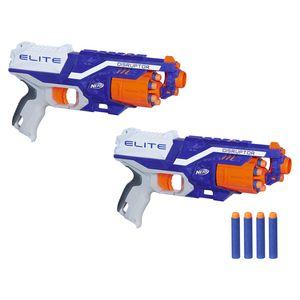 Hasbro C2544 Nerf N-Strike Disruptor Duopack Blaster Spielzeugpistole mit 12 Darts